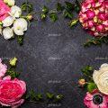 عکس با کیفیت انواع گل های صورتی و منحصربفرد در کنار یکدیگر به صورت قاب